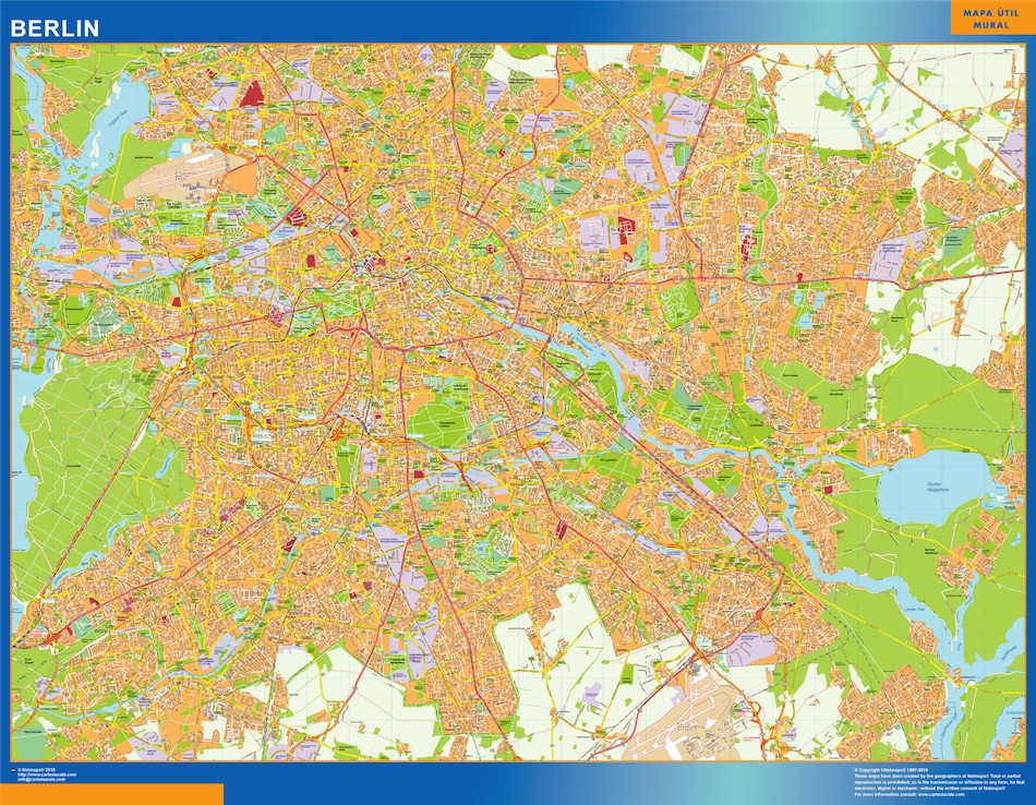 Stadtplan Berlin wandkarte