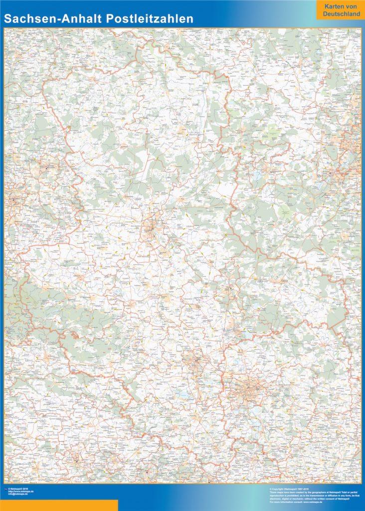 Sachsen-Anhalt Postleitzahlen