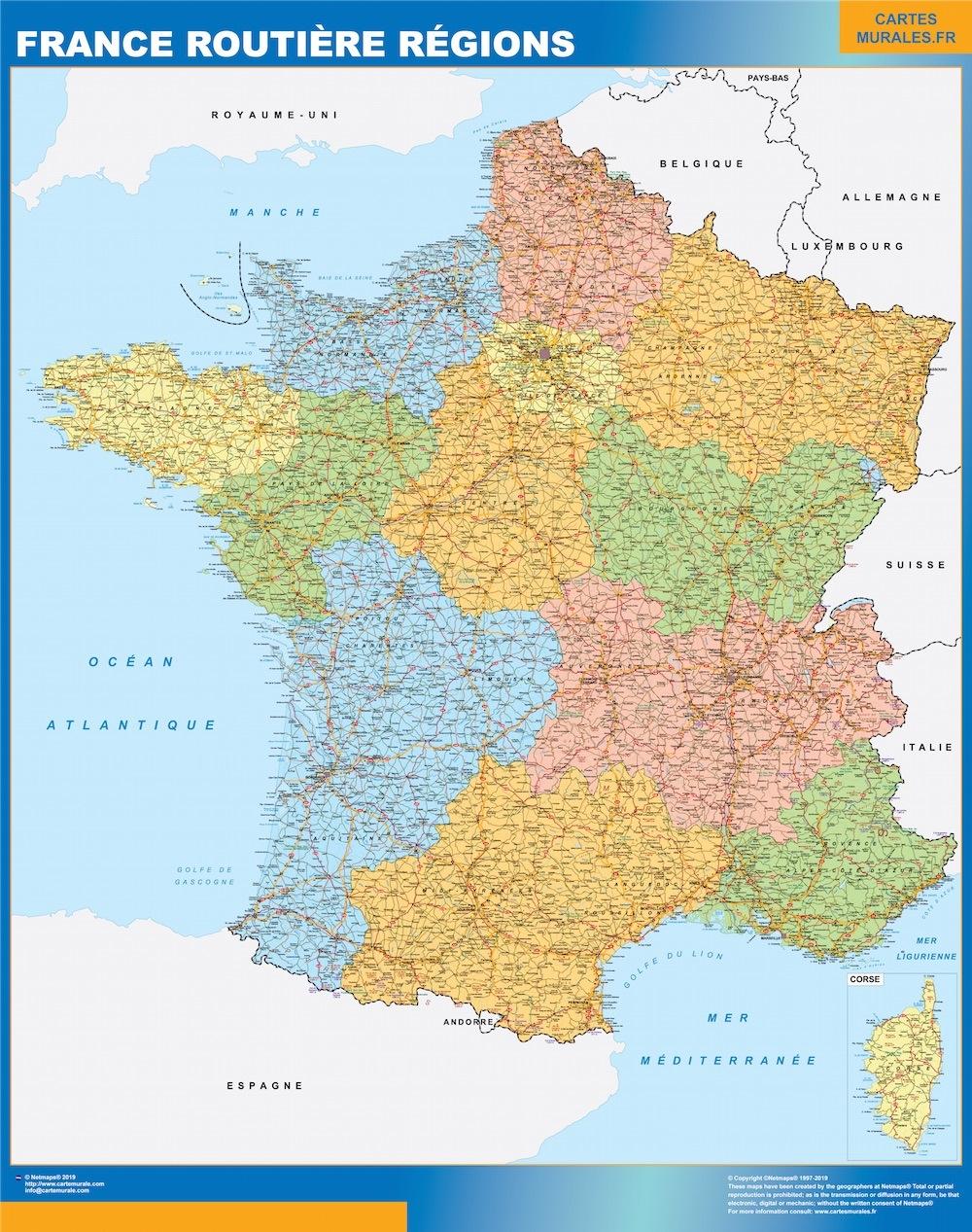 Frankreich Karte Landkarten Fur Osterreich Und Deutschland