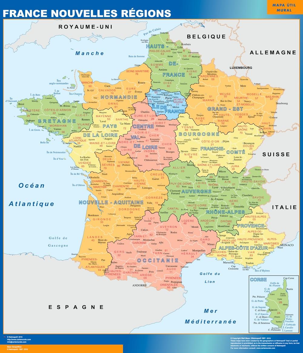 Karte Von Frankreich New Regions Landkarten Fur Osterreich Und