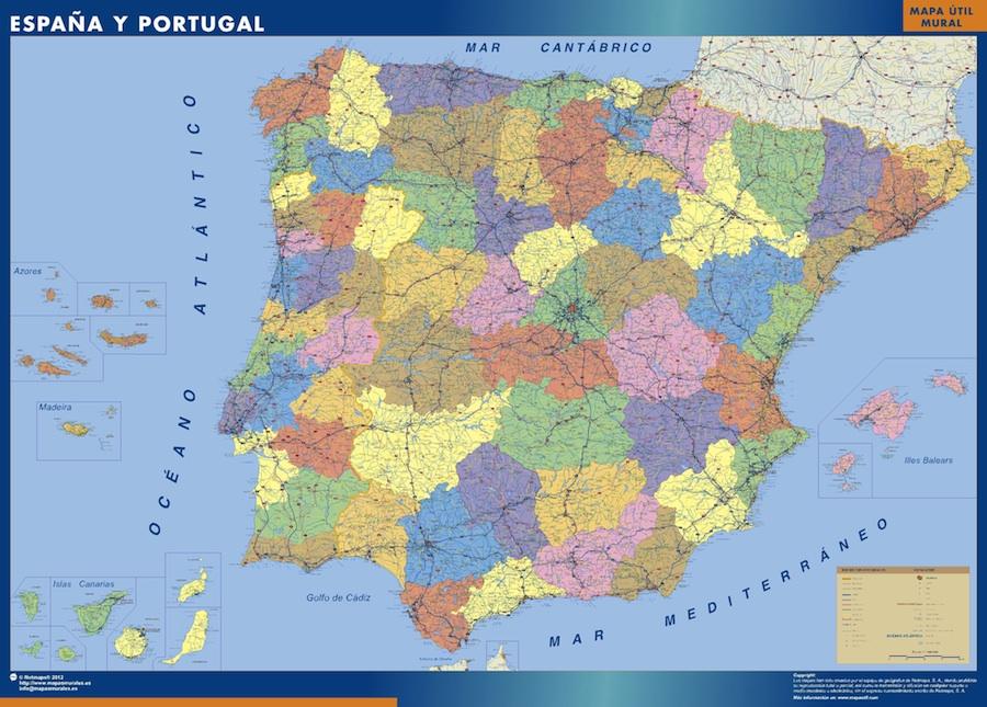 Karte Von Spanien Provincial Landkarten Fur Osterreich Und
