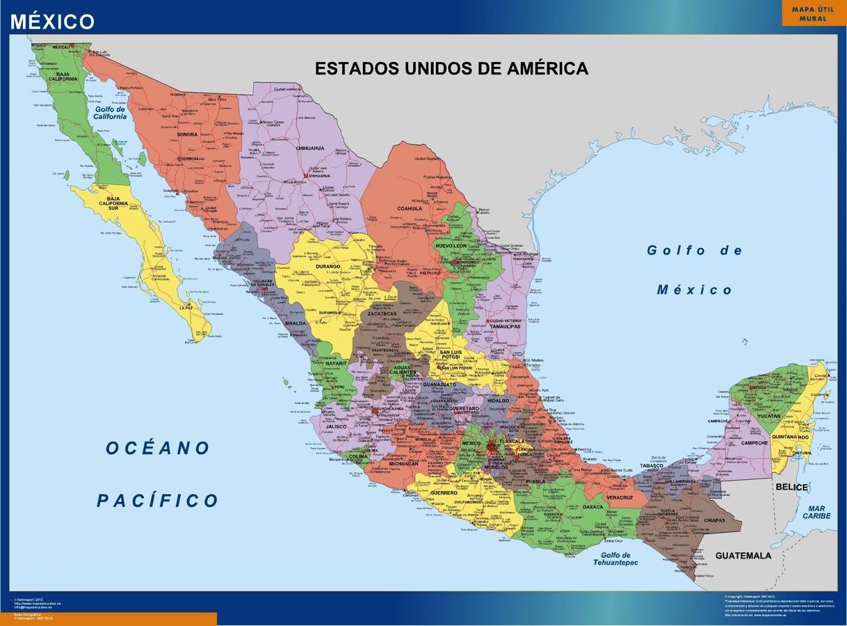 Mexico Karte Landkarten Fur Osterreich Und Deutschland
