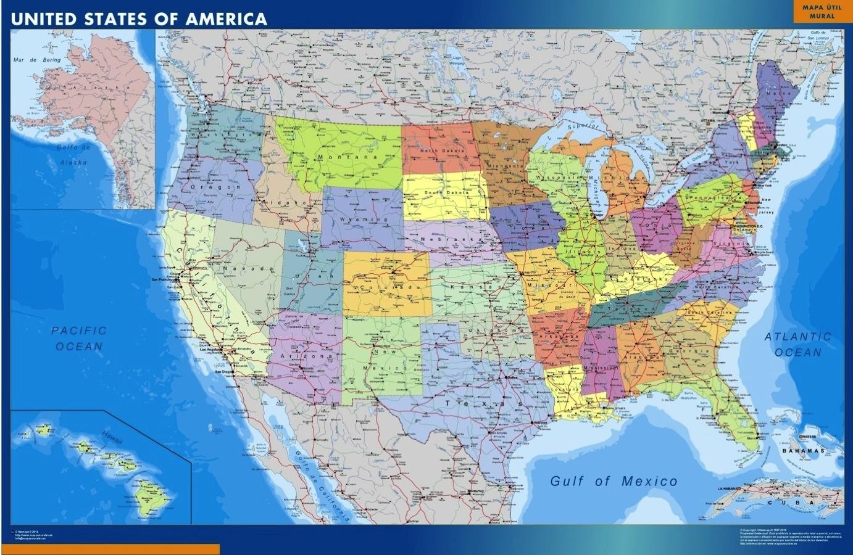 Usa Karte Landkarten Fur Osterreich Und Deutschland