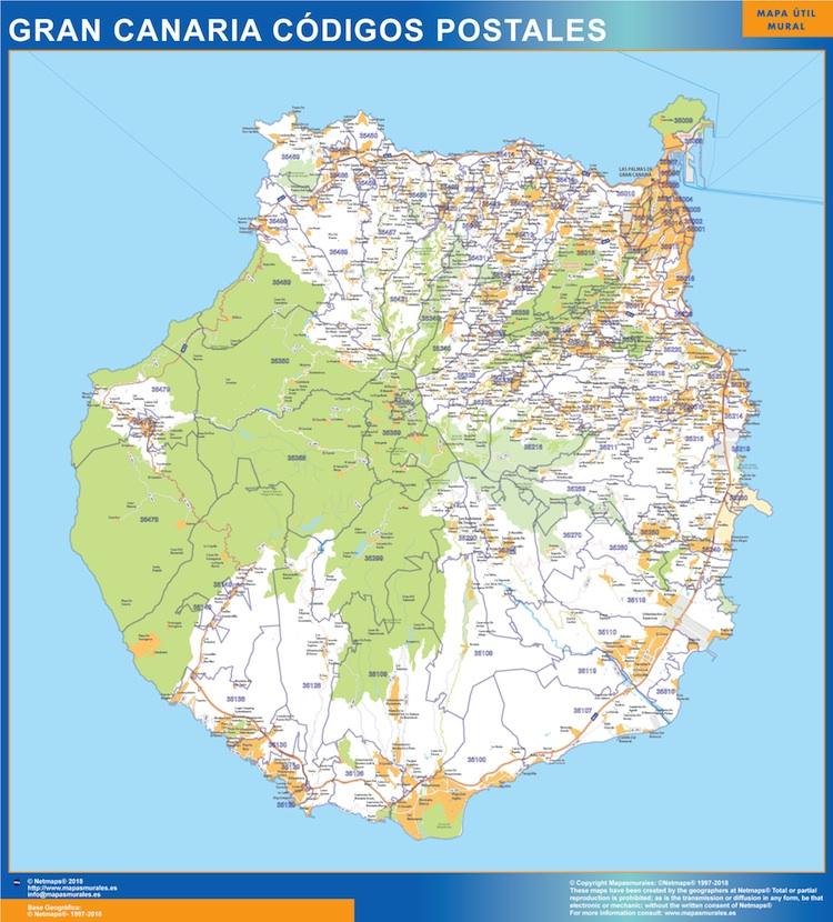 Postleitzahlen Isla Gran Canaria Karte Landkarten Fur Osterreich